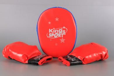 Боксов комплект с меча лапа и ръкавици