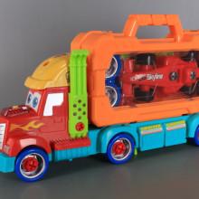 Камион-куфар с инструменти и болид