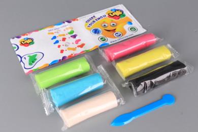 Пластилин с блясък - 6 цвята