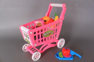 Количка за пазаруване и плодове/ зеленчуци за рязане