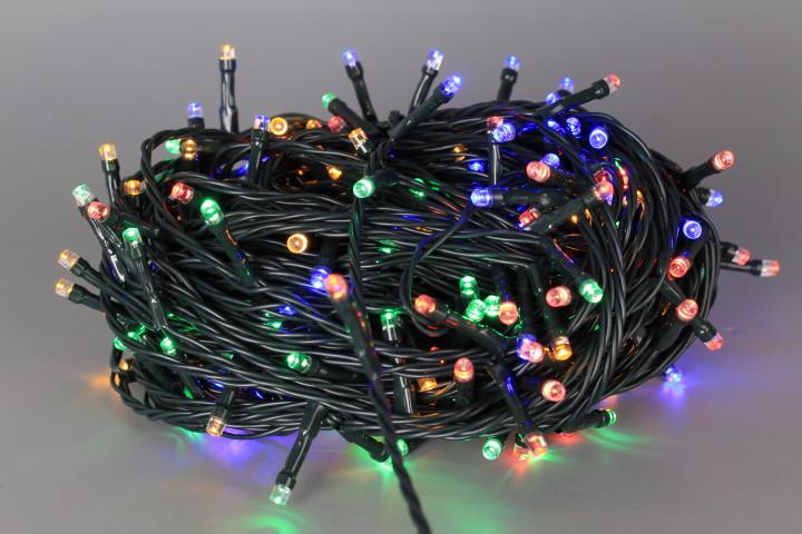 Коледни 240 LED цветни лампички - 24 m