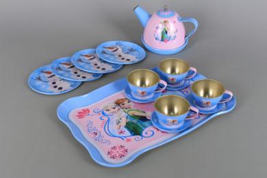 Метален сервиз за чай с поднос
