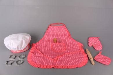 Готварски комплект с престилка и шапка