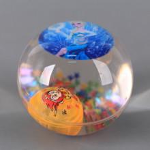 Светещо подскачащо топче Принцеси - 6.5 см.