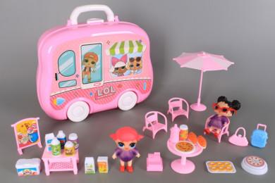 К-т Куфарче-бус, кукли и аксесоари за пикник
