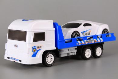 Полицейски автовоз с кола