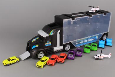Камион с писта и 12 машини