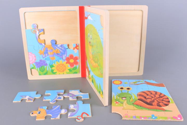 Дървена книжка - пъзел