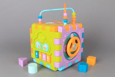 Занимателен куб с броеница - сортер