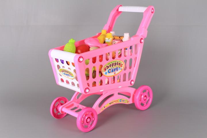 Количка за пазаруване с продукти